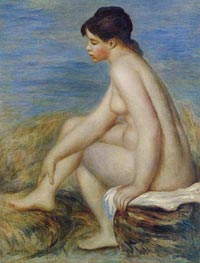 Seated Bather, 1882 von Renoir | Gemälde-Reproduktion