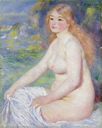 Blonde Bather | Renoir | Painting Reproduction