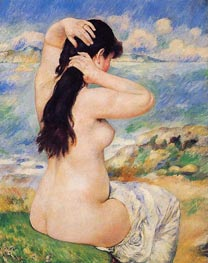Bather Arranging Her Hair (Nude Fixing Her Hair) | Renoir | Painting Reproduction
