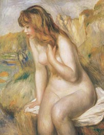 Bather Seated on a Rock | Renoir | Painting Reproduction