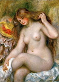 Bather with Loose Blonde Hair | Renoir | Painting Reproduction