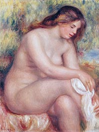 Bather Drying her Leg | Renoir | Painting Reproduction