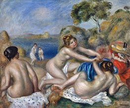 Three Bathers with a Crab | Renoir | Painting Reproduction