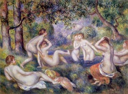 Bathers in the Forest | Renoir | Gemälde Reproduktion