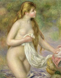 Long-haired Bather, c.1895 by Renoir | Painting Reproduction