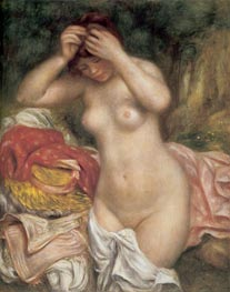 Bather Arranging her Hair | Renoir | Painting Reproduction