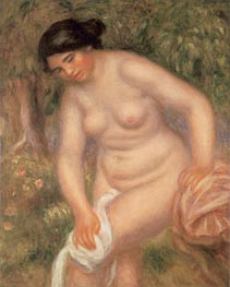 Bather Drying Herself | Renoir | Painting Reproduction