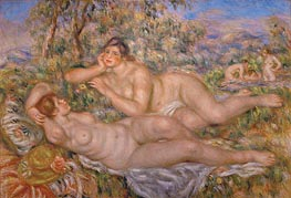 The Great Bathers (The Nymphs) | Renoir | Gemälde Reproduktion