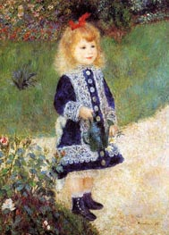 Girl with a Watering Can | Renoir | Gemälde Reproduktion
