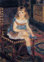 Mademoiselle Georgette Charpentier Seated, 1876 by Renoir | Painting Reproduction
