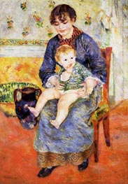 Mother and Child, 1881 by Renoir | Painting Reproduction