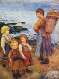 Mussel Fishers at Berneval, 1879 by Renoir | Painting Reproduction