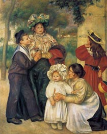 The Artist's Family, 1896 by Renoir | Painting Reproduction