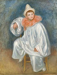 White Pierrot (Jean Renoir), c.1901/02 by Renoir | Painting Reproduction