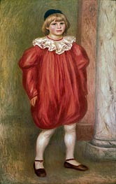 The Clown (Claude Renoir), 1909 by Renoir | Painting Reproduction