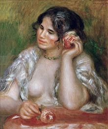 Gabrielle with a Rose, 1911 by Renoir | Painting Reproduction