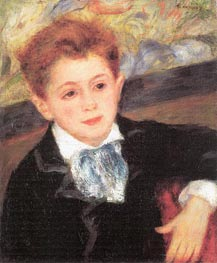 Portrait of Paul Meunier, 1877 by Renoir | Painting Reproduction
