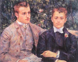 Portrait of Charles and Georges Durand-Ruel, 1882 by Renoir | Painting Reproduction