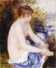 Little Blue Nude, c.1878/79 by Renoir | Painting Reproduction
