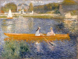 The Skiff (La Yole), 1875 by Renoir | Painting Reproduction