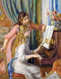 Two Young Girls at the Piano, 1892 von Renoir | Gemälde-Reproduktion