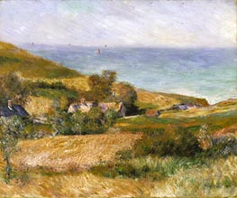View of the Seacoast near Wargemont in Normandy, 1880 von Renoir | Gemälde-Reproduktion