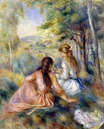 In the Meadow, c.1888/92 von Renoir | Gemälde-Reproduktion
