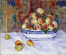Still Life with Peaches, 1881 von Renoir | Gemälde-Reproduktion