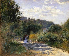 A Road in Louveciennes | Renoir | Gemälde Reproduktion