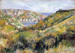 Hills around the Bay of Moulin Huet, Guernsey | Renoir | Gemälde Reproduktion