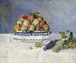Still Life with Peaches and Grapes | Renoir | Gemälde Reproduktion