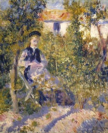 Nini in the Garden (Nini Lopez) | Renoir | Gemälde Reproduktion