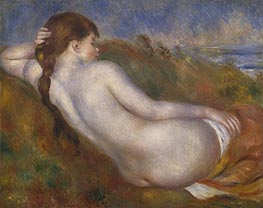 Reclining Nude, 1883 by Renoir | Painting Reproduction