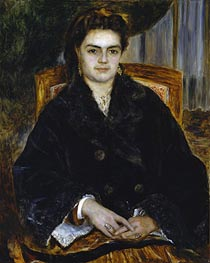 Madame Edouard Bernier (Marie-Octavie-Stephanie Laurens) | Renoir | Painting Reproduction