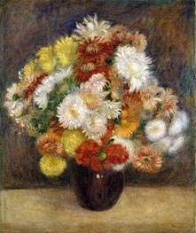 Bouquet of Chrysanthemums | Renoir | Gemälde Reproduktion