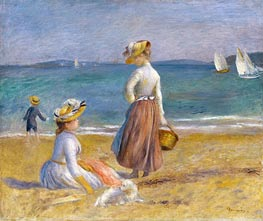 Figures on the Beach, 1890 von Renoir | Gemälde-Reproduktion