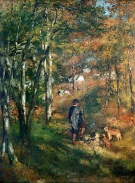 The Painter Lecoeur in the Woods of Fontainebleau, 1866 von Renoir | Gemälde-Reproduktion