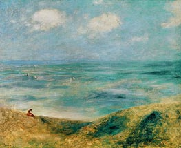 Seascape. Woman at the Seaside, c.1879/80 von Renoir | Gemälde-Reproduktion