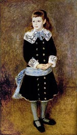 Girl with Blue Sash | Renoir | Painting Reproduction