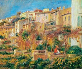 Terrace at Cagnes | Renoir | Gemälde Reproduktion