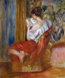 Woman Reading | Renoir | Gemälde Reproduktion