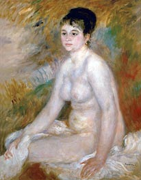 Bather (After the Bath), 1876 von Renoir | Gemälde-Reproduktion