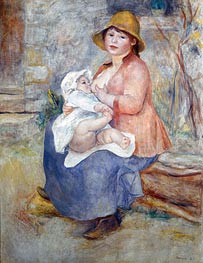Madame Renoir and Son Pierre (Maternity) | Renoir | Painting Reproduction