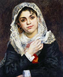 Lise in a White Shawl | Renoir | Gemälde Reproduktion