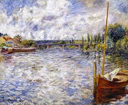 The Seine at Chatou | Renoir | Gemälde Reproduktion