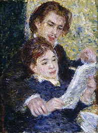 In the Studio (Georges Riviere and Marguerite Legrand) | Renoir | Gemälde Reproduktion