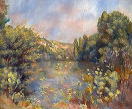 Lakeside Landscape | Renoir | Painting Reproduction