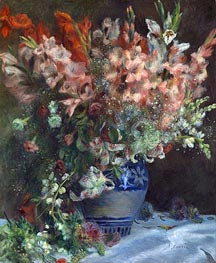 Gladioli in a Vase | Renoir | Painting Reproduction