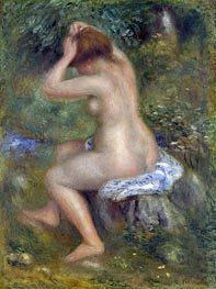 A Bather, c.1885/90 von Renoir | Gemälde-Reproduktion