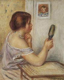 Gabrielle Holding a Mirror   Renoir   Painting Reproduction